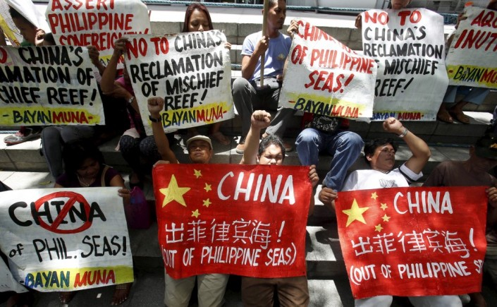 red china west philippine sea aggression protest