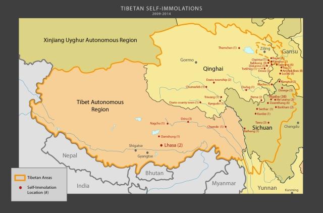 tibet awareness tibet map self immolations