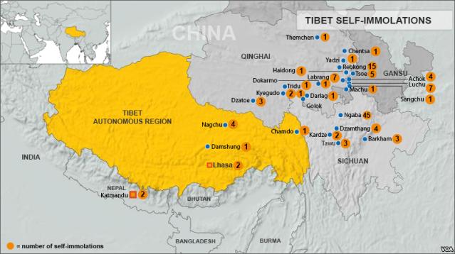 tibet awareness tibetan self immolations