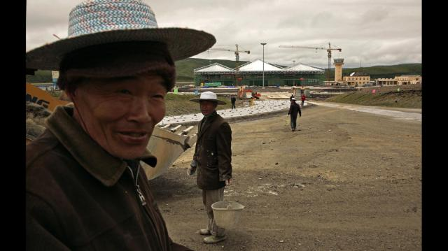 TIBET AWARENESS - TIBET'S ROAD TO MARTYRDOM. HONGYUAN, NEW AIRPORT TO PROMOTE TOURISM WHILE TIBETANS LIVE IN PAIN AND MISERY.