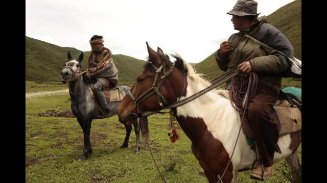 TIBET AWARENESS - TIBET'S ROAD TO MARTYRDOM: TIBETAN NOMADS OF MEIRUMA VILLAGE. TIBETANS LIVED FOR CENTURIES ENJOYING AN INDEPENDENT LIFESTYLE WITH NO OUTSIDE INTERVENTION.