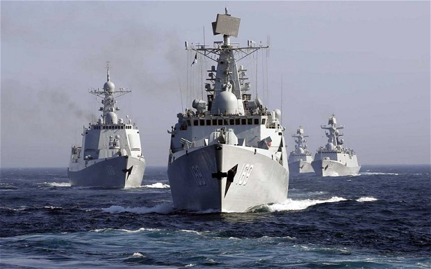 RED CHINA - RED ALERT - RED DRAGON COVETS ARCTIC: CHINESE NAVY DESTROYER WUHAN LEADS  FIVE-SHIP SURFACE ACTION GROUP FROM CHINESE PEOPLE'S LIBERATION ARMY NAVY OR PLAN AS THEY MOVE INTO BERING SEA FOR THE FIRST TIME IN US HISTORY.
