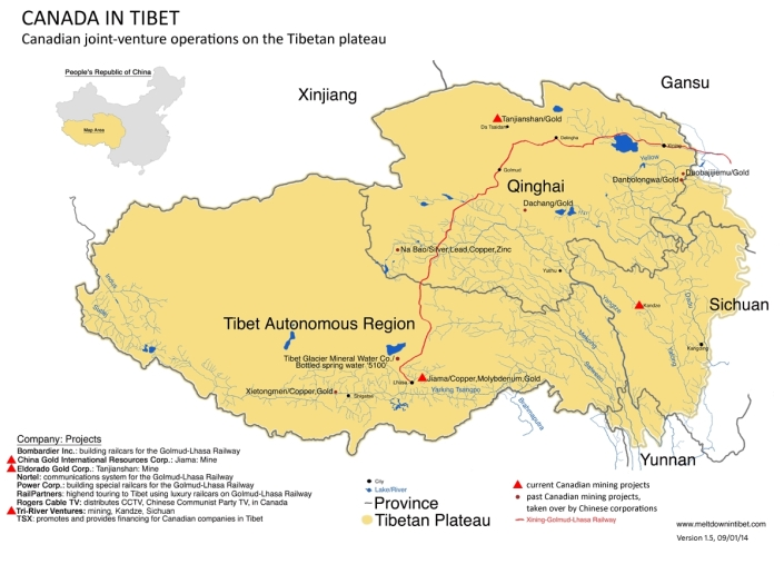 Tibet Awareness - Looting and Plundering of Tibet. Canadian Companies operating in Tibet