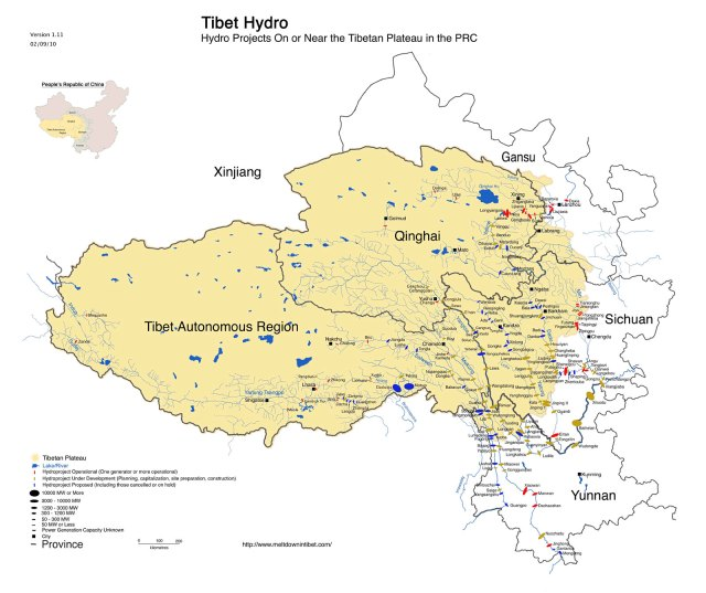 Tibet Awareness - Red China - Looting and Plundering of Tibet. Hydro projects. Ecological Devastation.