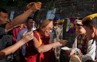 Tibet Consciousness - His Holiness the Dalai Lama visits Tibetan School on Saturday, October 10, 2015.