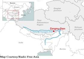 Tibet Consciousness - Red China - Neocolonialist. Zangmu dam in Occupied Tibet.