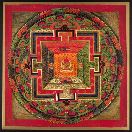 Tibetan mandala is a temple design