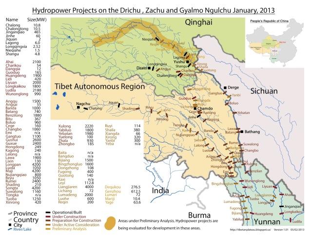 ... (Mekong) and Gyalmo Ngulchu (Salween) rivers on the Tibetan Plateau
