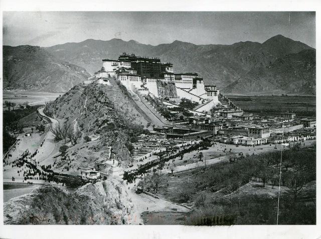 TIBET AWARENESS - HISTORY OF TIBET'S UNREST. POTALA PALACE, LHASA, TIBET.