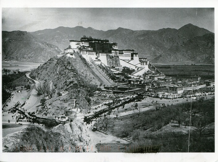 TIBET AWARENESS - HISTORY OF TIBET'S UNREST. POTALA PALACE, LHASA, TIBET.