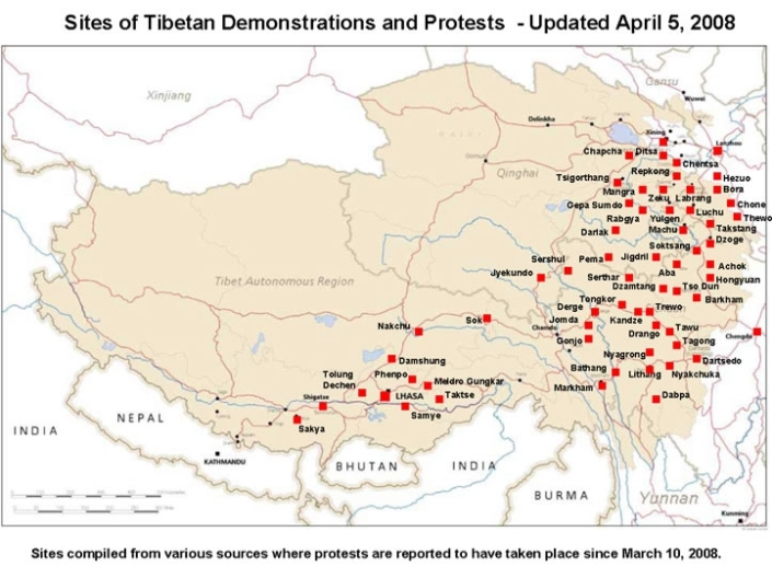 TIBET AWARENESS - HISTORY OF TIBET'S UNREST.