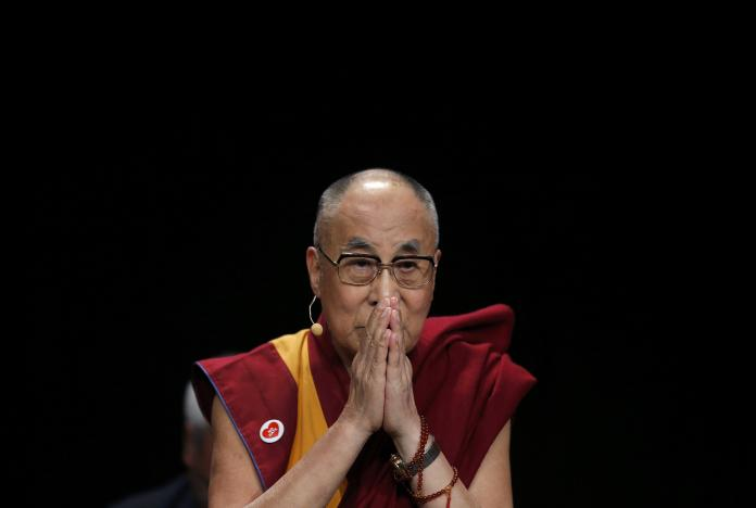 Tibet's exiled spiritual leader the Dalai Lama attends a meeting with youth in Strasbourg, France, September 15, 2016. REUTERS/Vincent Kessler