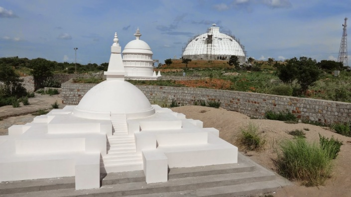 Tibet Awareness - My Nagarjuna Connection. Buddhist Stupas near Nagarjuna Sagar, India.