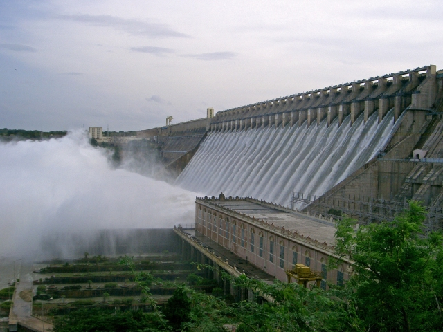 Tibet Awareness - My Nagarjuna Connection. Nagarjuna Sagar Dam across Krishna River in Nalgonda District, India.