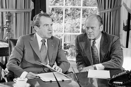 The doomed presidency of Nixon and Ford. Doomed for not playing the 'Tibet Card'.