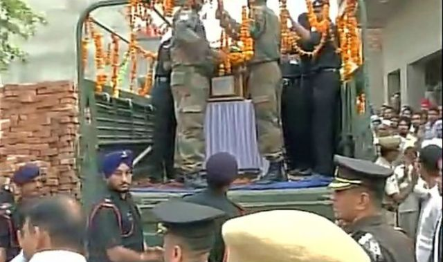 Tribute to Indian Army Sepoy Mandeep Singh. Final Journey.