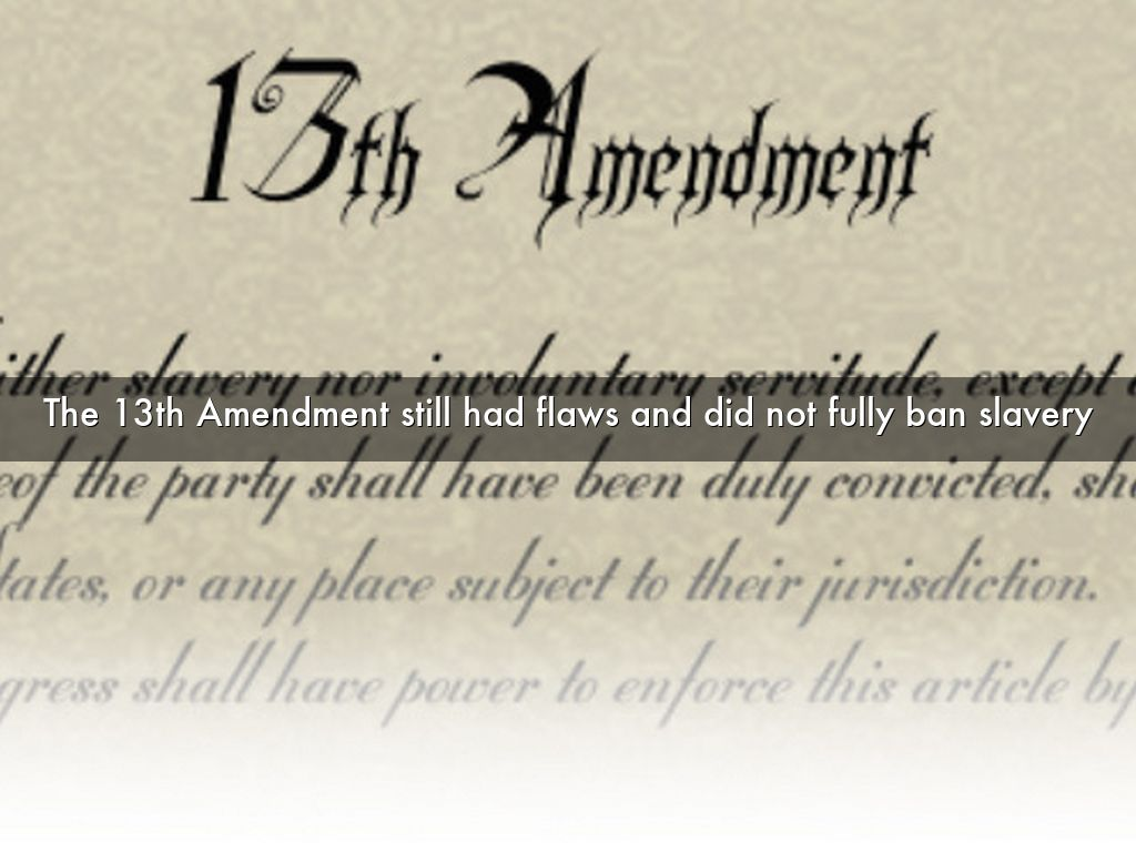 13th amendment essay