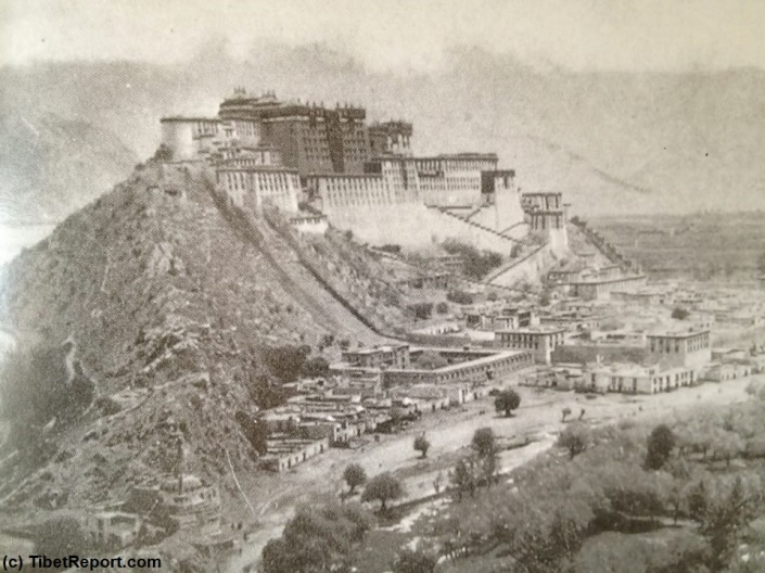 DOOMED HUMAN RIGHTS IN OCCUPIED TIBET. POTALA PALACE, LHASA, TIBET IN 1930 A.D. FULLY INDEPENDENT NATION.