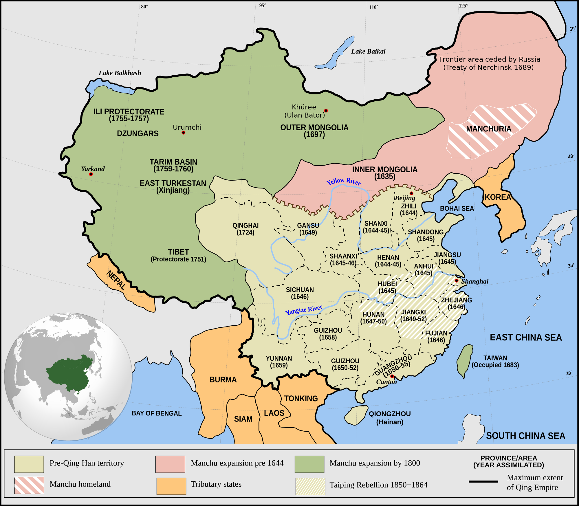 No Russia No China U S Must Choose Tibet Equilibrium Qing China Empire Circa 1820