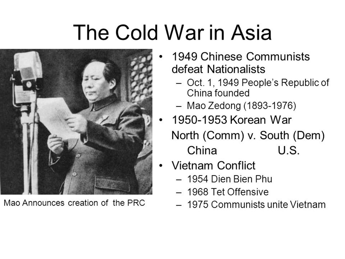 the cold war and the spread of communism in asia The communist victory took many by surprise and debate raged in american over the extent to which truman could have 'saved' china china falls to communism in 1949 a white paper was published by us secretary of state dean acheson.