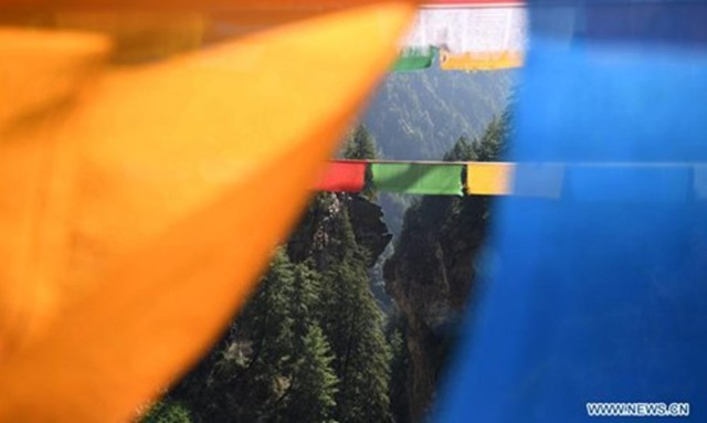 Prayer Flags of Gyirong County, Tibet.